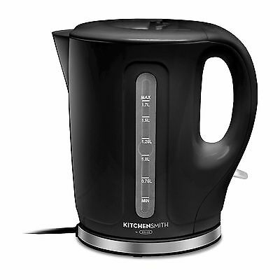KitchenSmith by Bella Electric Tea Kettle 1.7 Liter 1500w - Black DISPLAY MODEL