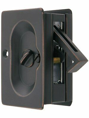 Emtek Pocket Door Privacy Lock Set, Oil-Rubbed Bronze