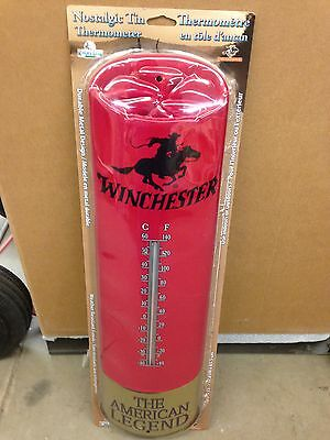 25 Inch Winchester Thermometer Large Shot Gun Shell Rifle Hunting Bar Man Cave