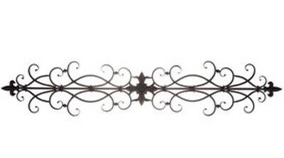 Black Metal Scroll Wall Decor Fleur De Lis New 29 99