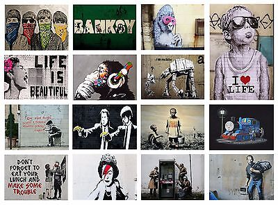 Best Of Banksy Graffiti Street Art Poster Options A4 A3 Poster Buy1Get2Free
