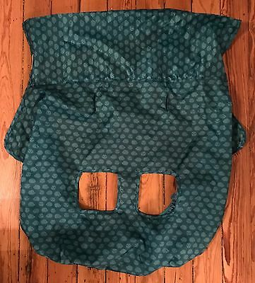 INFANTINO Fold Away Shopping Cart Cover Teal Hedgehog Thin