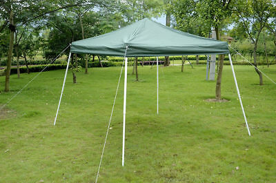 Outsunny 10' x 10' Portable Sierra Pop Up Tent Outdoor Patio Market Canopy Green
