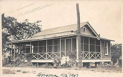GORGONA, PANAMA, PRIVATE RESIDENCE & ITS OWNERS, REAL PHOTO PC ~ used 1907