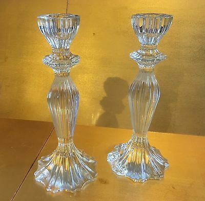 crystal candlesticks pair