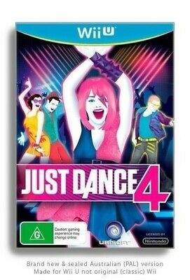 Just Dance 4 Nintendo Wii U (NEW, SEALED, AUSSIE) music stage kids dancing party