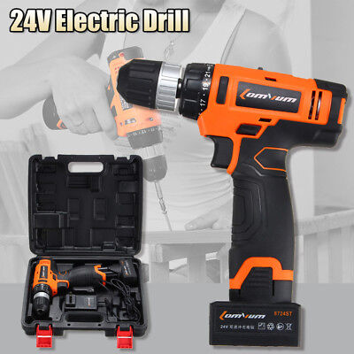 Wireless 24V Electric Drill Driver Sensational Electric Drill  With Bits Set NEW