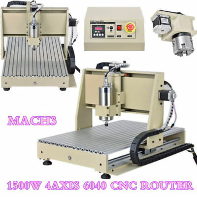 1.5KW four 4 Axis 6040 CNC Router Engraver Engraving Milling Drilling Machine US