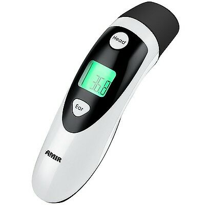 Amir Ear and Forehead Dual Mode Infrared Body Thermometer Non-Contact Baby Th...