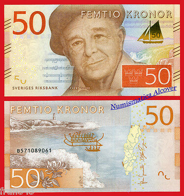 SUECIA SWEDEN 50  Kronor coronas 2015 Pick NEW SC /  UNC