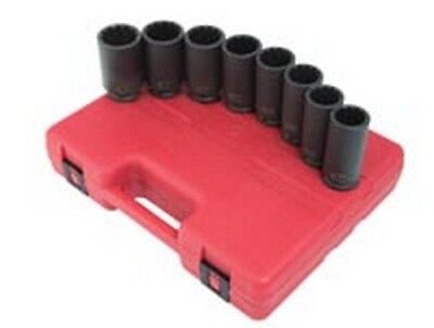 "Sunex 1/2"" Dr 12pt 8pc Spindle Nut Impact Socket Set 2835"