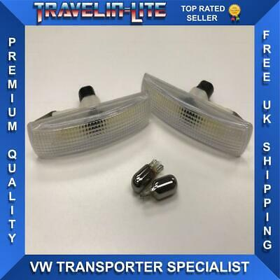 Freelander 2 Range Rover Sport Side Repeaters Lights Clear & Chrome Bulbs