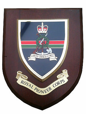 Royal Pioneer Corps Military Shield Wall Plaque