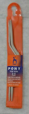 Pony Bent Cable Needle (60210) Pack of 2 Needles