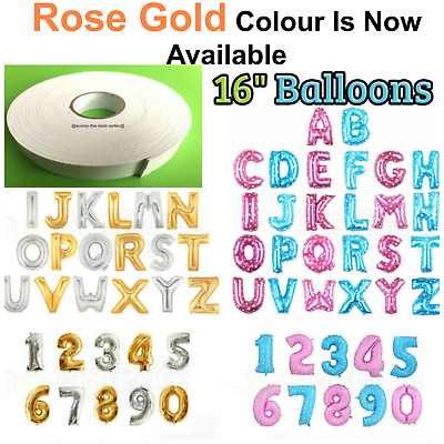 LETTER Foil Number Balloons Air Baloons Large Happy Birthday Party Ballons