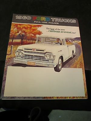 1960 Ford Trucks Full Line Folder Sales Brochure