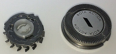 Three Philips HQ2 Compatible Shaver Head Foil & Cutters Replacement ROTA Action