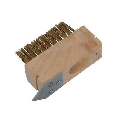 2 X Patio Drive Block Paving Wire Head Brush Metal Rake Out Spike Grout Clean