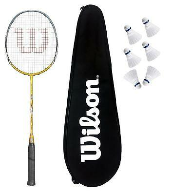 Wilson Fierce CX5000 Badminton Racket + 6 Shuttles RRP £170
