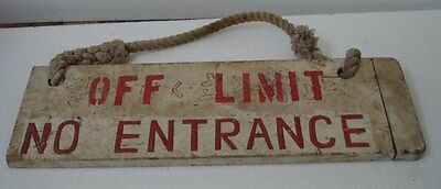 Ship's VINTAGE Wooden Board SIGN – 100% Original -20.50 x 6.25 Inches (551)
