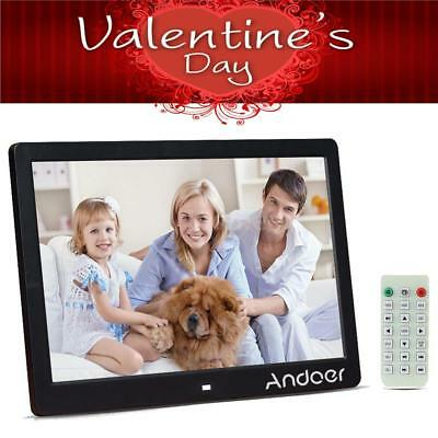 "Andoer 13"" LED HD Digital Photo Picture Frame MP3/4 Movie Player Alarm Clock US"