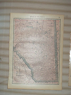 1909 Original MAP ALBERTA CANADA Medicine Hat