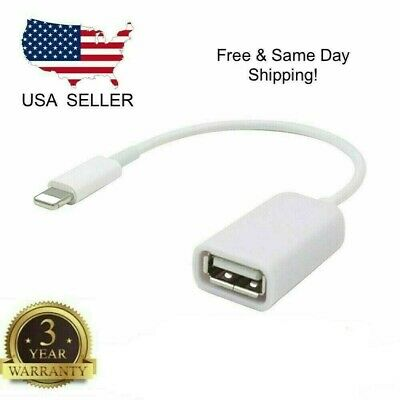 8 Pin Male To USB Female OTG Adapter Cable For iPhone 5 5s 6 6s Plus 7