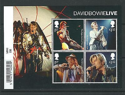 Great Britain 2017 David Bowie  Miniature Sheet Unmounted Mint, Mnh