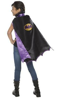 Batgirl fancy dress party Superhero black purple girls cape HALLOWEEN accessory