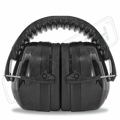 Black Ear Muffs Protection Construction Shooting Noise Reduction Hunting Sports