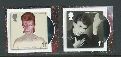 Great Britain 2017 David Bowie Self Adhesive Booklet Pair  Unmounted Mint, Mnh