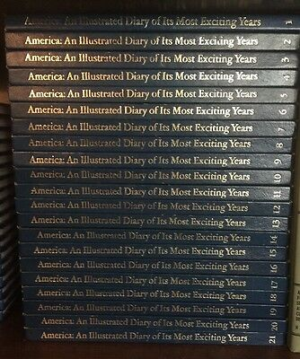 America: An Illistrated Diary of Its Most Exciting Years Complete Set 21 HC Book