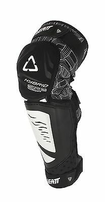 New Leatt 3DF Hybrid EXT Knee Guards Motocross Enduro ATV Quad Black