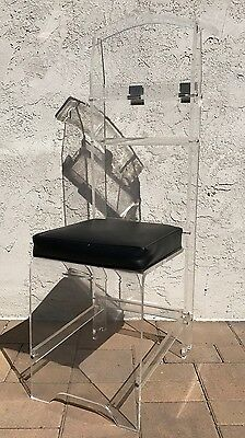 VTG Mid Century Clear Acrylic Lucite Butler VALET Coat Tree Clothes Rack Chair