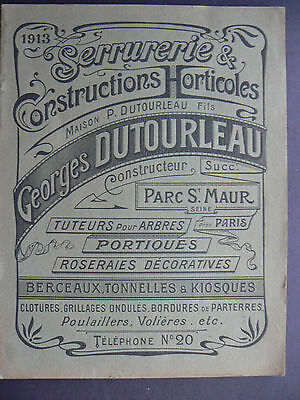 1913 French Catalog Garden Fencing, Flower Supports, Animal Housing