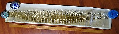 SUPER Orig Photo Yard Long - Firemen Convention Canastota NY 1920s Band etc.