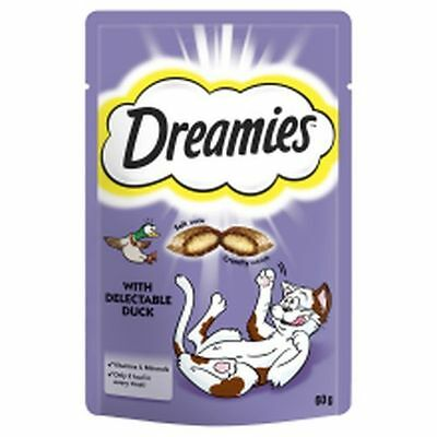 8x Dreamies Cat Treats with Duck 60g 258508