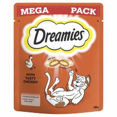 6x Dreamies Cat Treats with Tasty Chicken Mega Pack 180g 327981