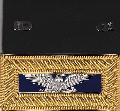 Civil War Staff Colonel Shoulder Boards Extra Rich Dk Blue Straps Free $20 Coin
