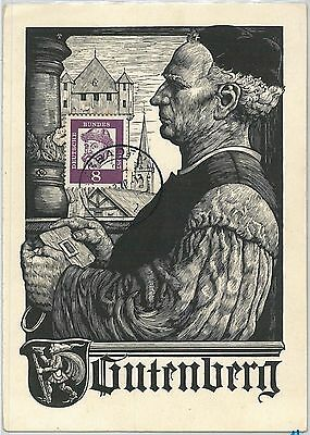 61665 -  GERMANY - POSTAL HISTORY:  MAXIMUM CARD - Letterature: GUTENBERG