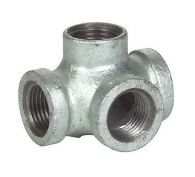 """3/4"""" Side Outlet TEE GALVANIZED MALLEABLE IRON fitting pipe npt"""