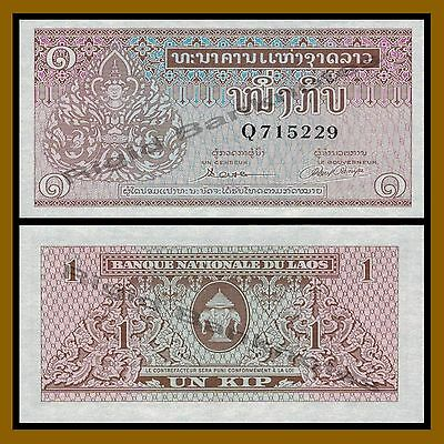 Laos 1 Kip, ND 1962 P-8 Unc