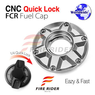 CNC TIT Quick Release Gas Fuel Cap For Triumph Speed Triple 955i All Years