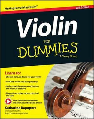 NEW Violin For Dummies By Katharine Rapoport Paperback Free Shipping
