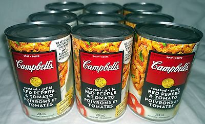 Campbells Roasted Red Pepper & Tomato Condensed Soup (9) Cans Canada / Canadian