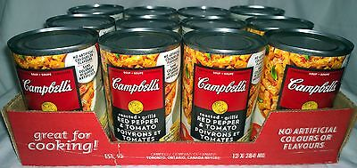 Campbells Roasted Red Pepper & Tomato Condensed Soup (12) Cans Canada / Canadian