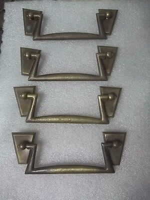 Vintage Lot Of 4 Drawer Handle Pulls For Furniture Estate Find