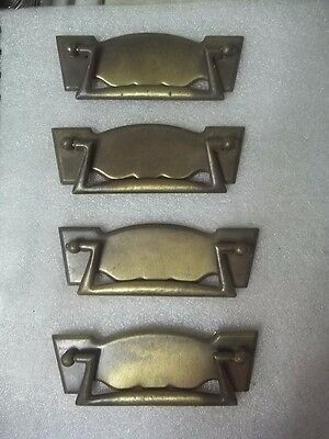 Vintage Lot Of 4 Drawer Handle Pulls For Furniture Estate Find # 5