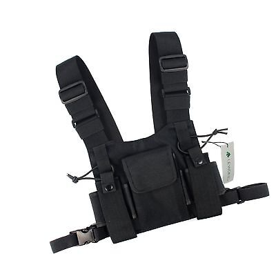 Lewong Universal Hands Free Chest Harness Bag Holsterfor Two Way Radio ( Resc...
