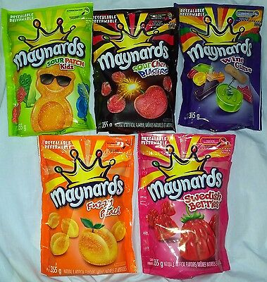 New MAYNARDS CANDY 315g-355g *FRESH* CANADA MULTIPLE FLAVORS WINEGUMS/SOUR PATCH